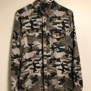 Camouflage Button Down